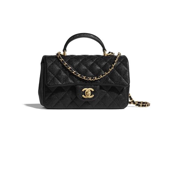 Chanel Mini Flap Bag Black Gold
