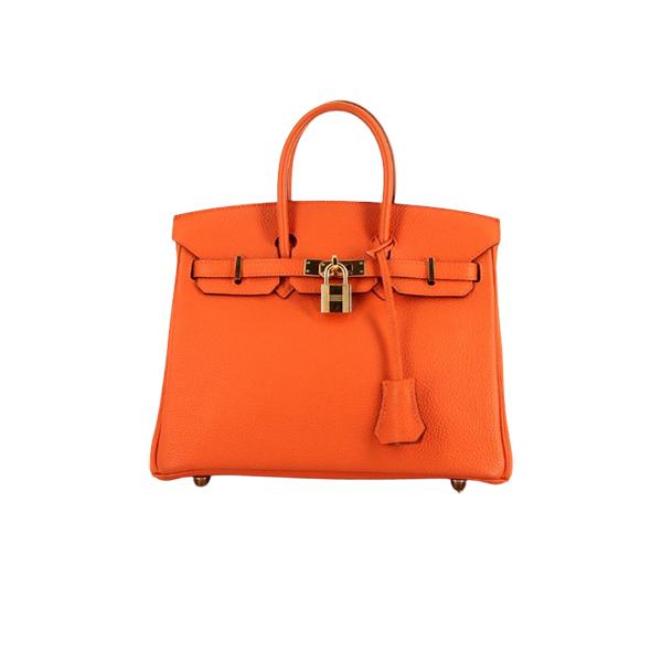 Hermes Birkin Handbag In Poppy Orange Togo Leather