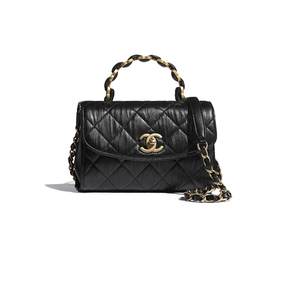 Chanel Mini Flap Bag With Top Handle