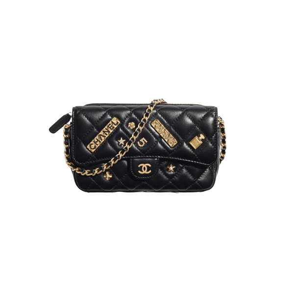 Chanel Classic Flap Phone Holder With Chain