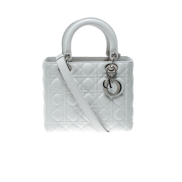 Dior Lady Bag Full White
