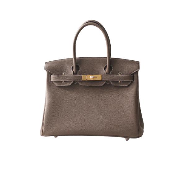 Hermes Birkin 30 Bag Brown Gold