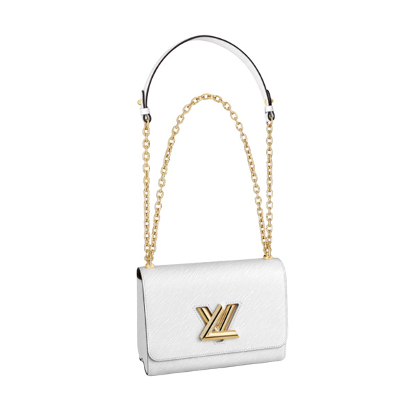 Louis Vuitton Twist MM Bag White