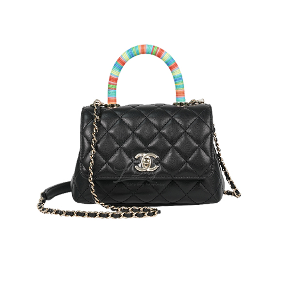 Chanel Mini Flap Bag With Top Handle Black