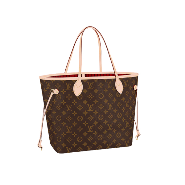 Louis Vuitton Neverfull MM Monogram Bag Pink Flamingo