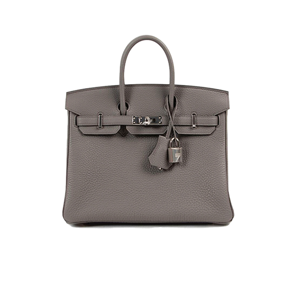 Hermes Birkin Bag Etain Togo 25 Gray