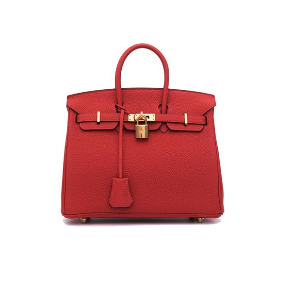 Hermes Birkin Bag Togo 25 Red