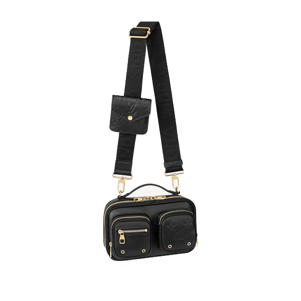 Louis Vuitton Utility Crossbody Bag Calfskin Leather
