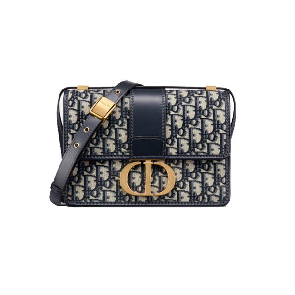 Dior 30 Montaigne Bag Blue Dior Oblique Jacquard