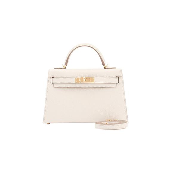 Hermes Kelly Bag Mini White
